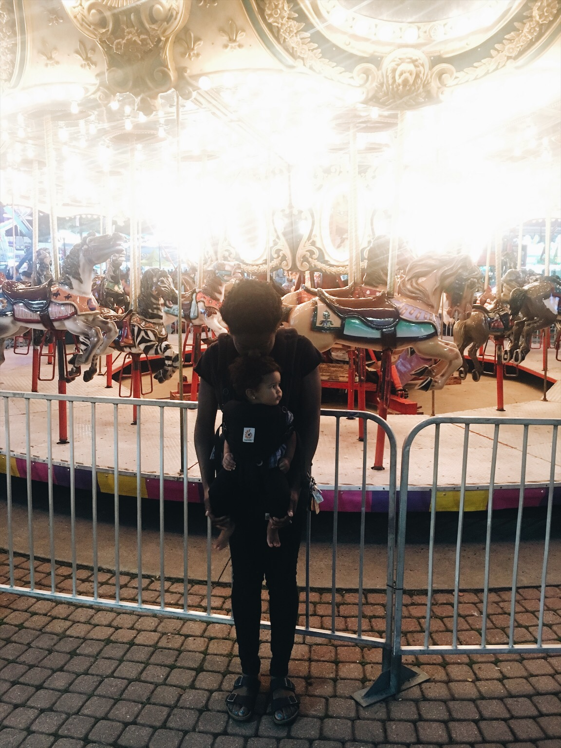 Taking on the Fair in my Ergobaby Omni360